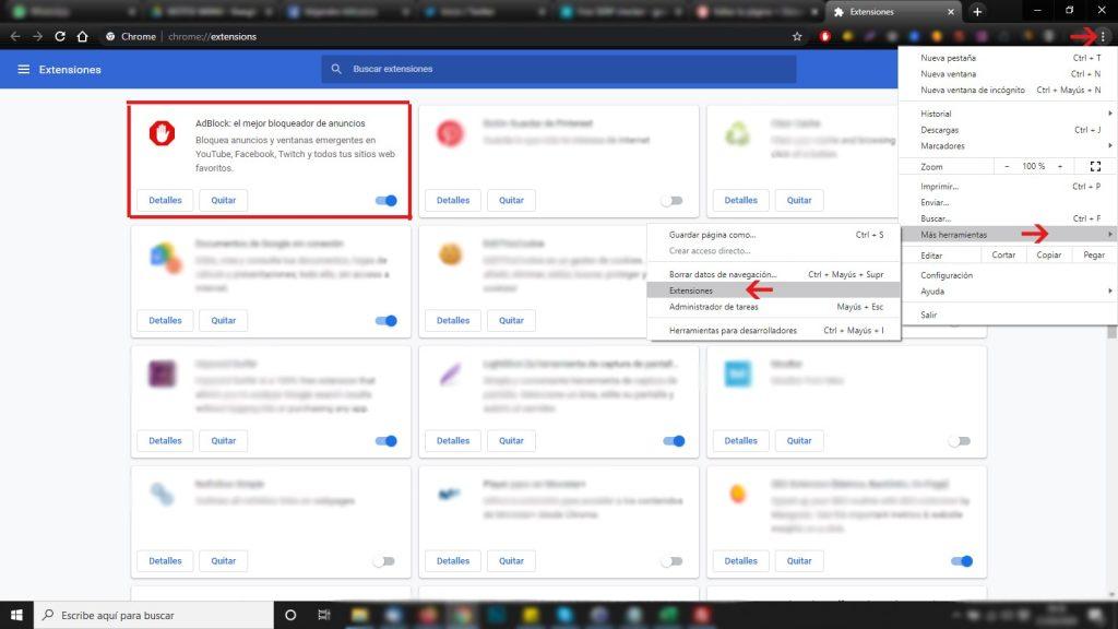 Adblock para Chrome Extensiones