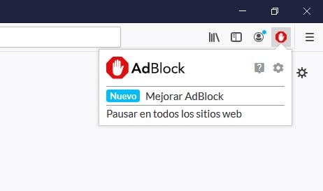 Activando Adblock