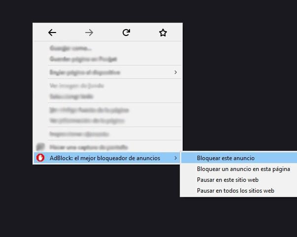 Cómo bloquear un anuncio con Adblock Firefox