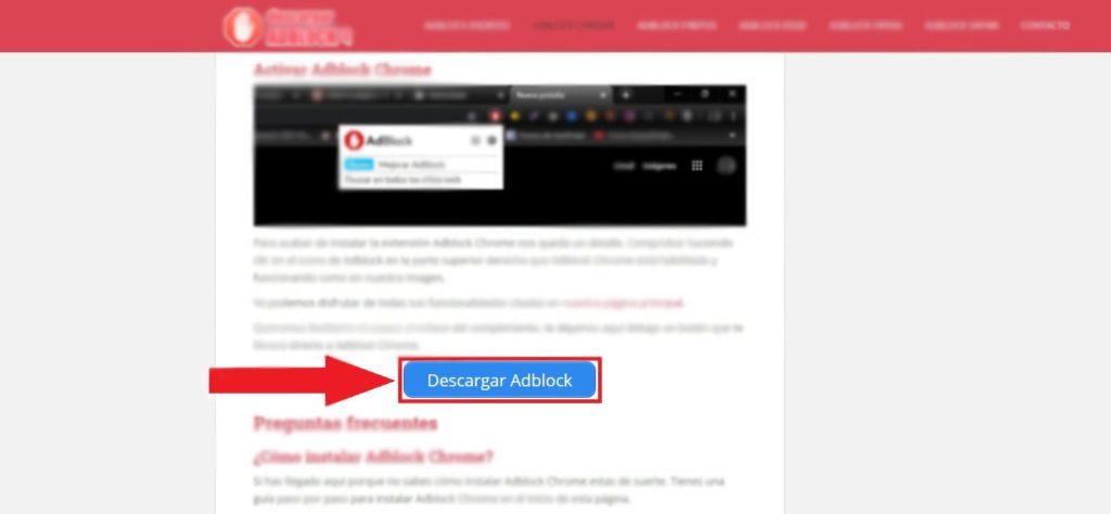Botón para descargar Adblock
