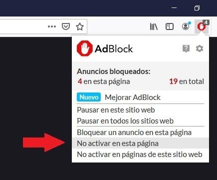 Cómo desactivar Adblock Firefox